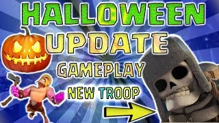 NEW HALLOWEEN UPDATE 2017 || NEW GIANT SKELETON || CLASH OF CLANS