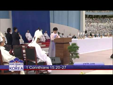 APOSOTOLIC JOURNEY TO THE REPUBLIC OF KOREA - HOLY MASS ON THE FEAST OF THE ASSUMPTION