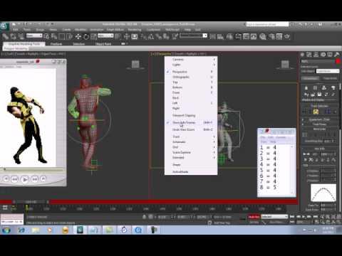 UMK3 Scorpion 3D animation Stumble _Part 01