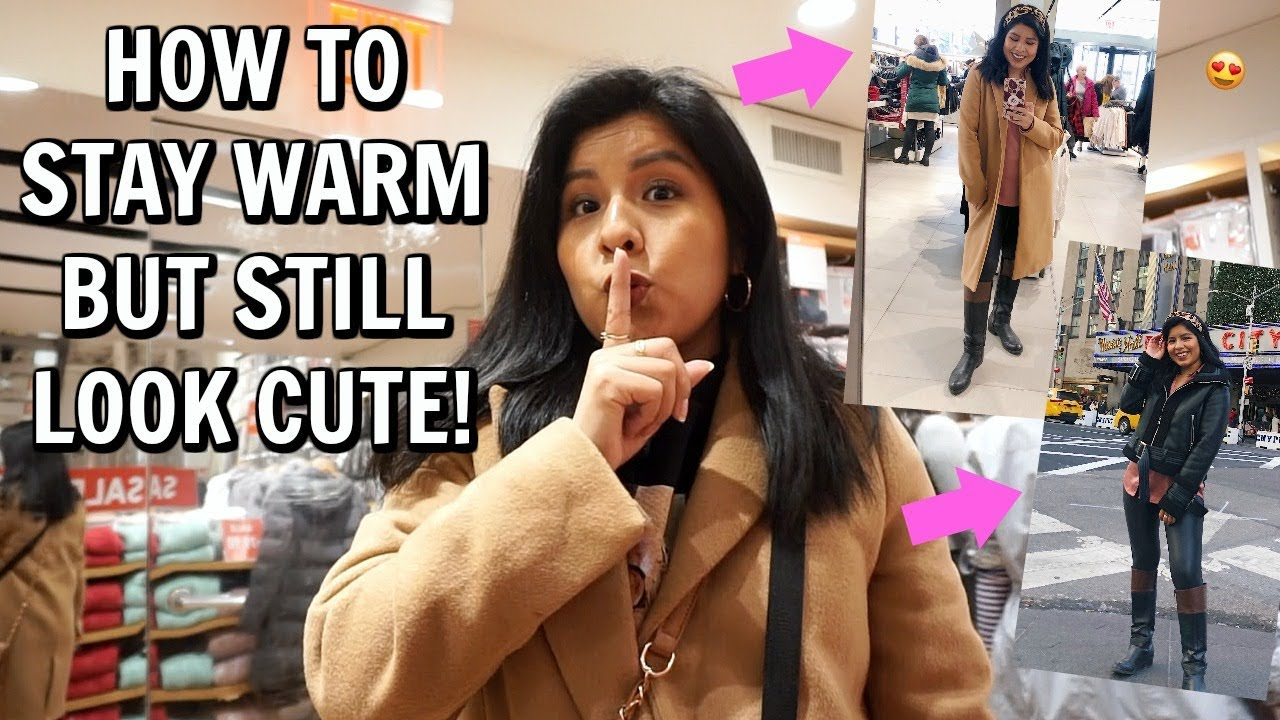 [VIDEO] - How to stay warm but still look cute this winter! *my secret* 1