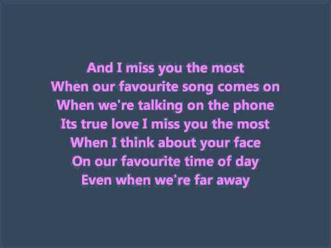 Suite 709 -Miss You the Most (True Love) (lyrics)