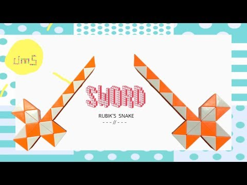 How to Rubik's snake24 : SWORD - Step by step & SLOW