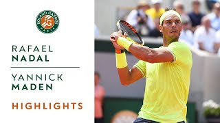 Rafael Nadal vs Yannick Maden - Round 2 Highlights | Roland-Garros 2019