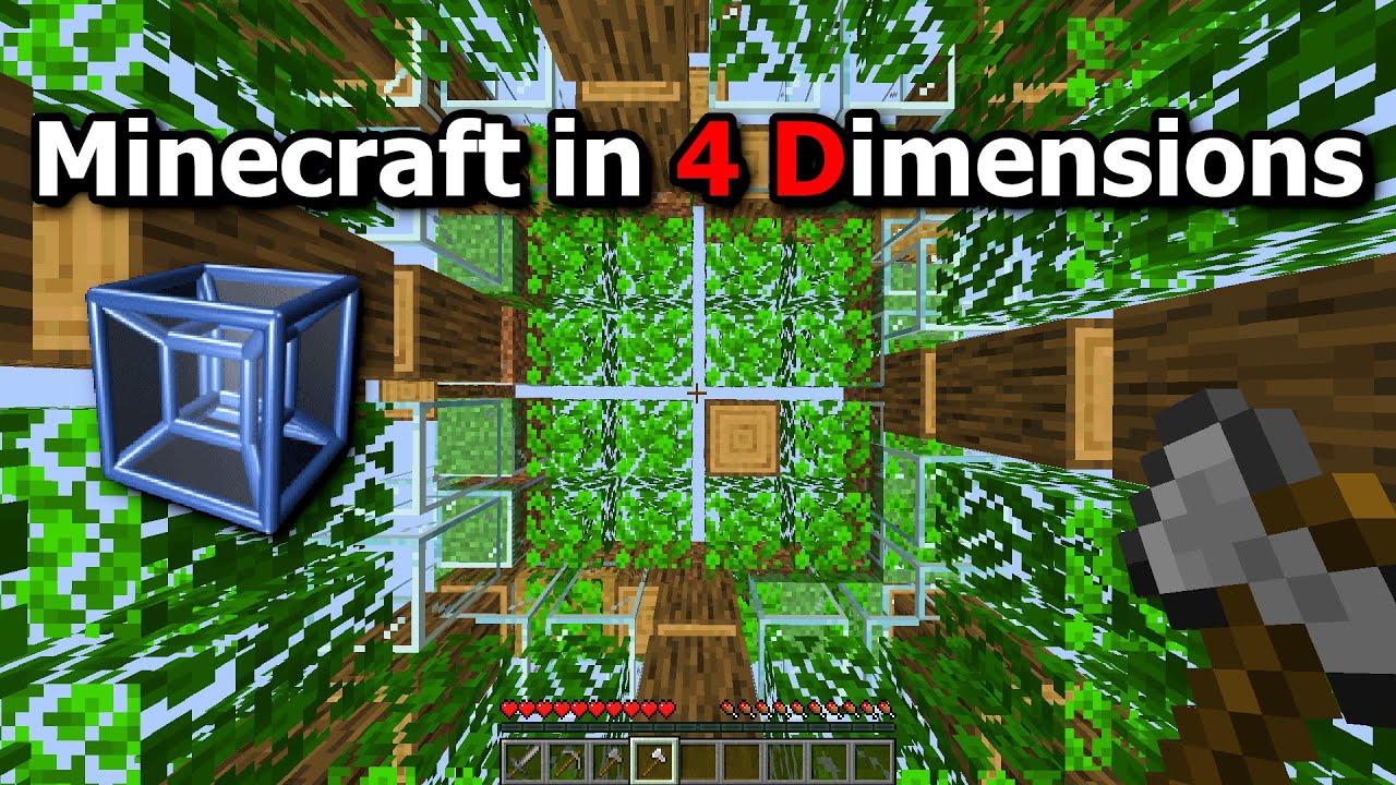 Minecraft in 4D (Tesseract)