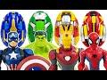 Avengers & Carbot Go~! Hulk, Spider-Man, Iron Man, Captain America