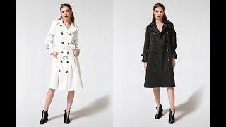 Autumn Winter Trench Coat for Women Adjustable Waist