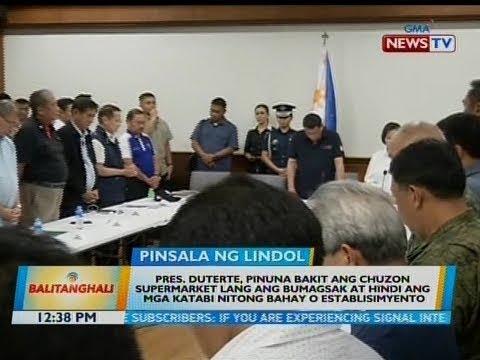 BT: Pres. Duterte, pinuna bakit ang Chuzon supermarket lang ang bumagsak at hindi ang...