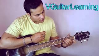 Pyar Deewana Hota Hai Guitar TUTORIAL | VGuitarLearning | Vikas Sharma | Easy Lesson