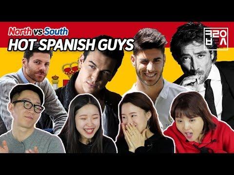 North Korean Defectors React to Spanish Male Celebrities [Korean Bros]