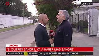Agredieron a un movilero de C5N en Luis Guillón