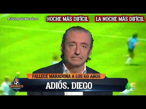 🖤 Pedrerol se despide de Maradona en El Chiringuito