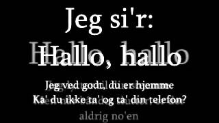 Lonnie Devantier - Hallo Hallo (Lyrics) ¤ ESC Denmark 1990