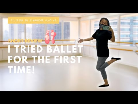 FILIPINA TRIES BALLET FOR THE FIRST TIME | FILIPINA IN SINGAPORE VLOG #3
