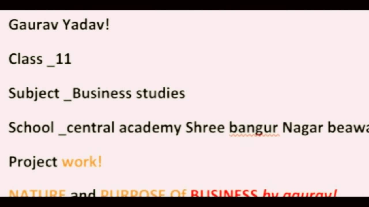 Explanation of chapter1 in business studies of class 11 youtube explanation of chapter1 in business studies of class 11 malvernweather Choice Image