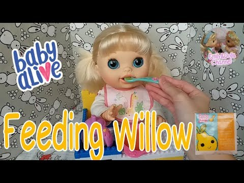 Baby Alive Video| Feeding Baby Alive Real Surprises Doll Willow Pears Doll Food🍐Feeding & Changing