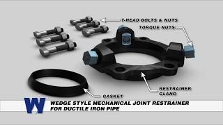Wedge Style Mechanical Joint Restrainer for Ductile Iron Pipe - WaterworksTraining.com