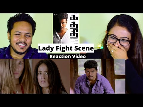 Reaction On Lady Fight Scene From Movie Kaththi | #ThalapathyVijay | Mr. & Mrs. Pandit