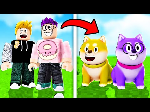 Can We Become HELPFUL PUPPIES In This ROBLOX STORY!? (BARK BARK WOOF ARF ARF!)