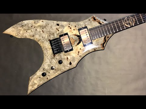 The Leviathan - Custom Buckeye Burl Top Guitar Build (Narrated)