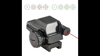 Review, CVLIFE 1x22x33 Reflex Sight W/4 Reticle Red/Green Dot & Red Laser Sight