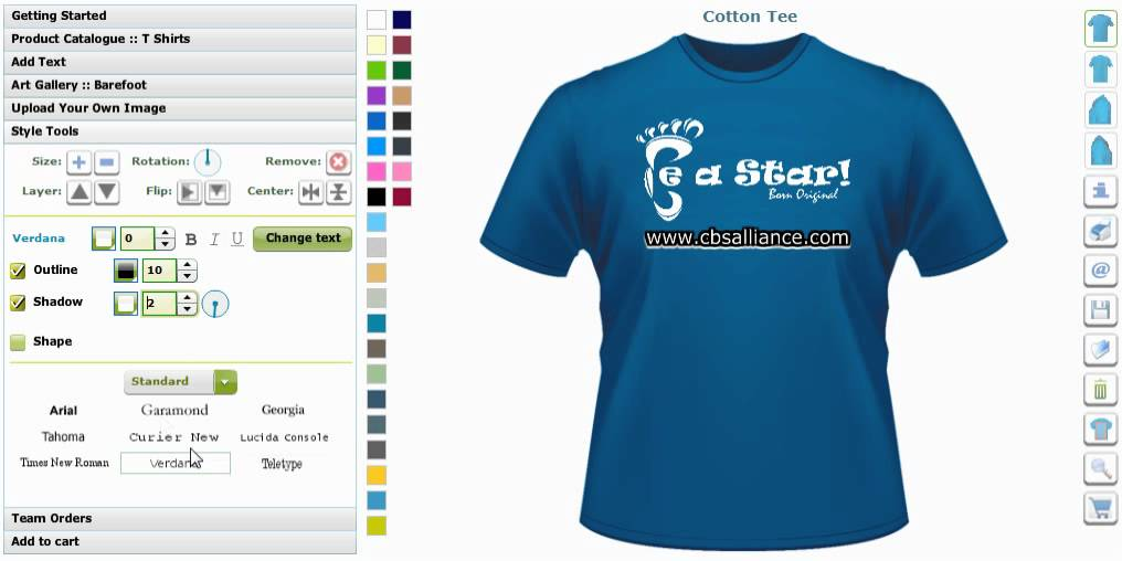 Tshirt design software tool designers shirt design maker Online clothing design software