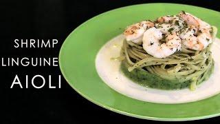 Easy Shrimp linguine aioli recipe