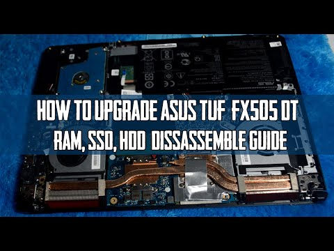 Tutorial upgrade ASUS TUF FX505dt disassembly guide step by step