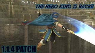 MARTH 1.1.4 Combos And Buffs THE HERO KING IS BACK?? [Super Smash Bros 4]