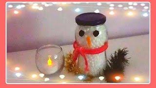 Muñecos de Nieve con Frascos de Vidrio | Navidad Thumbnail