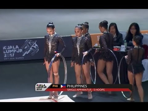 Philippines - 5 Hoops Rhythmic Gymnastics Single Appratus | Sea Games 2017