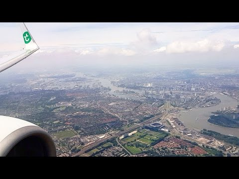 HARD LANDING  |  Transavia Boeing 737-800 hard landing Rotterdam -The Hague