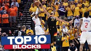 Top 10 BLOCKS of the 2020-21 NBA Postseason 👋