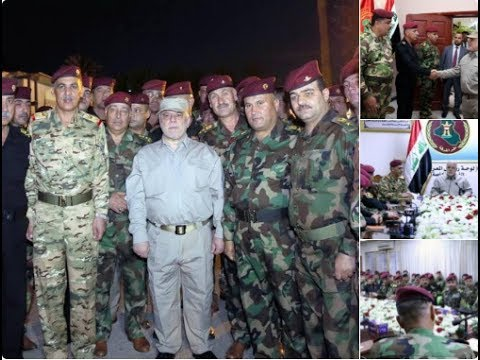 PM Abadi celebrating with the Forces