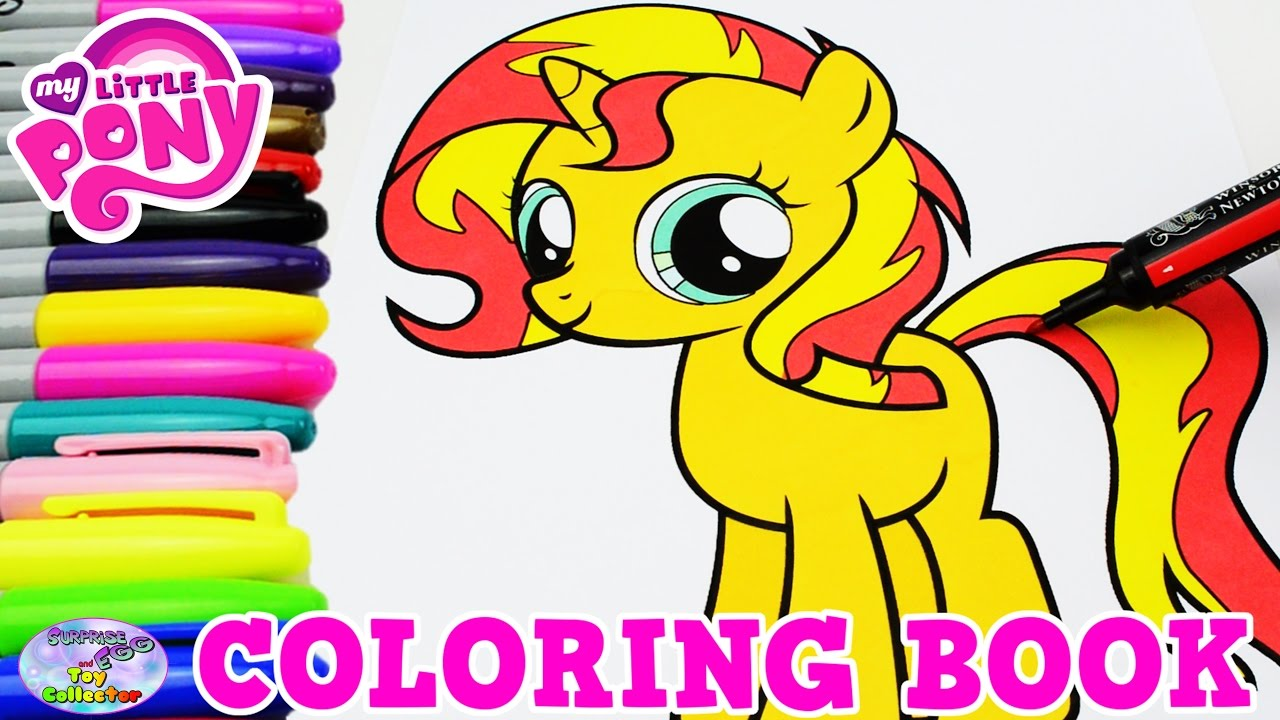 My Little Pony Coloring Book Sunset