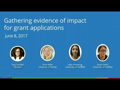 Gathering evidence of impact for grant applications: experts share their tips