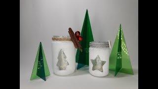 Craftfull - Χριστουγεννιάτικα βαζάκια ρεσώ. thumbnail
