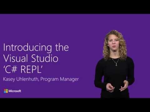 Introducing The Visual Studio 'C# REPL'