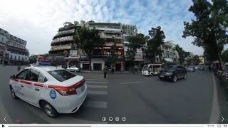 INSANE! How to cross the road in Hanoi (360 degree video)