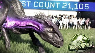 Jurassic World Evolution - 21,000 GUESTS TRAPPED! Super Indo Set Loose! - Fallen Kingdom Gameplay