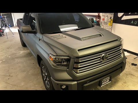 HOW TO VINYL WRAP A TRUCK! 2018 Toyota TUNDRA.