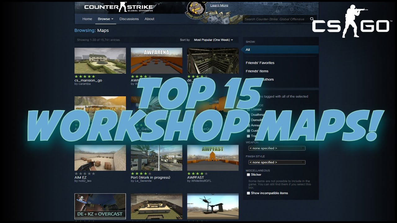 TOP 15 CS:GO Steam Workshop Maps of May 2015!