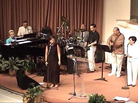 Tom Pope with the Green Tree Church Praise Band