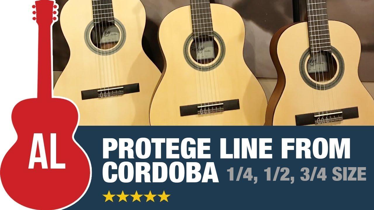 Cordoba Protege Line 1 4 1 2 And 3 4 Size Nylon String Guitars Awesome Beginner Guitars Youtube