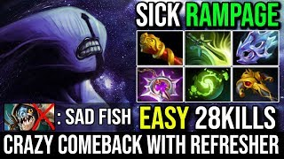 Super Sick Rampage Faceless Void   Epic Comeback 1Vs5 Mode 2x Chronosphere With Refresher Dota 2