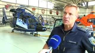 Streifenflug im Hubschrauber der Bundespolizei bei München