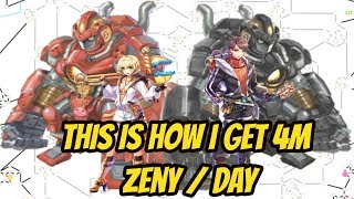 HOW TO GET 4M ZENY/DAY RAGNAROK MOBILE SEA