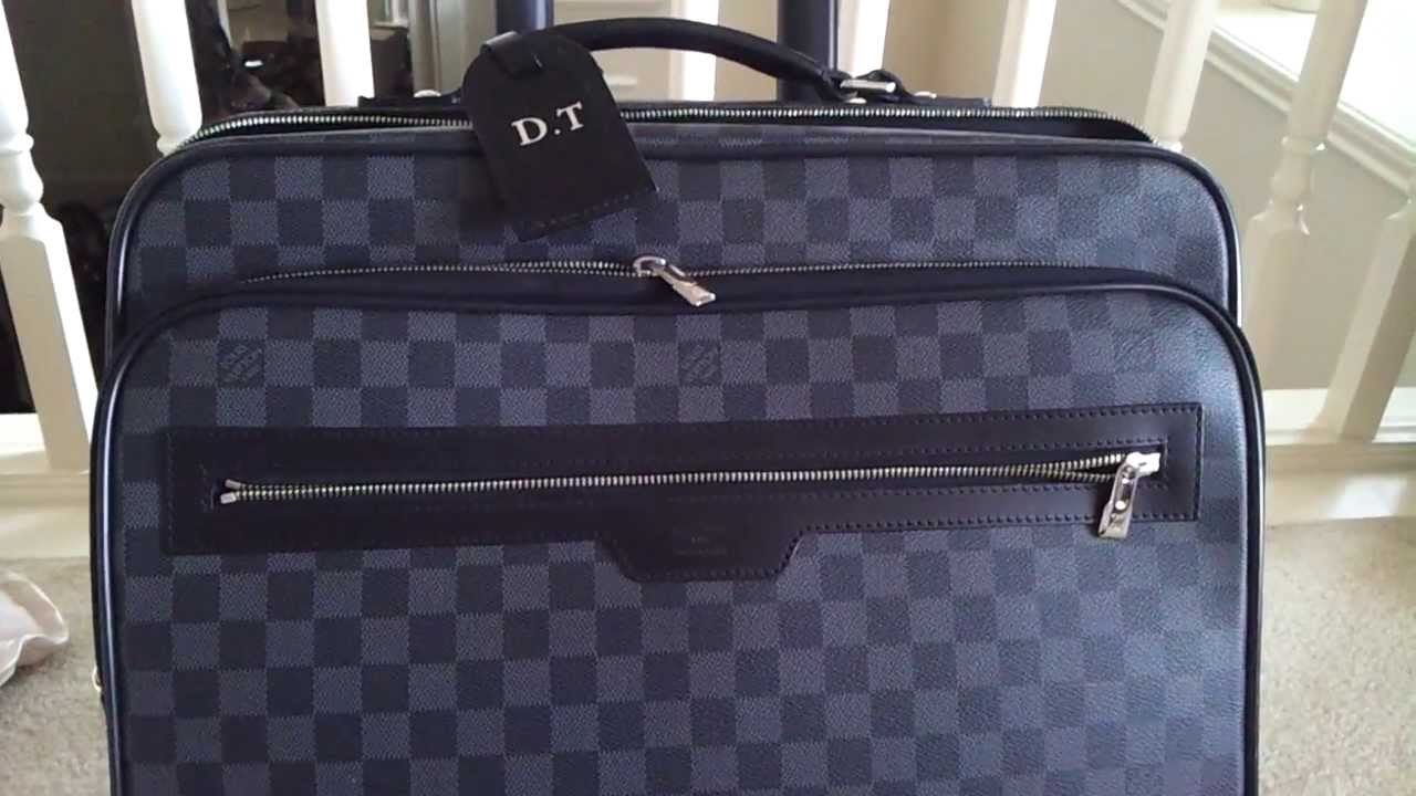 55f85361e3fa Louis Vuitton PILOT CASE in Damier Graphite Men s Carryon Suitcase Luggage