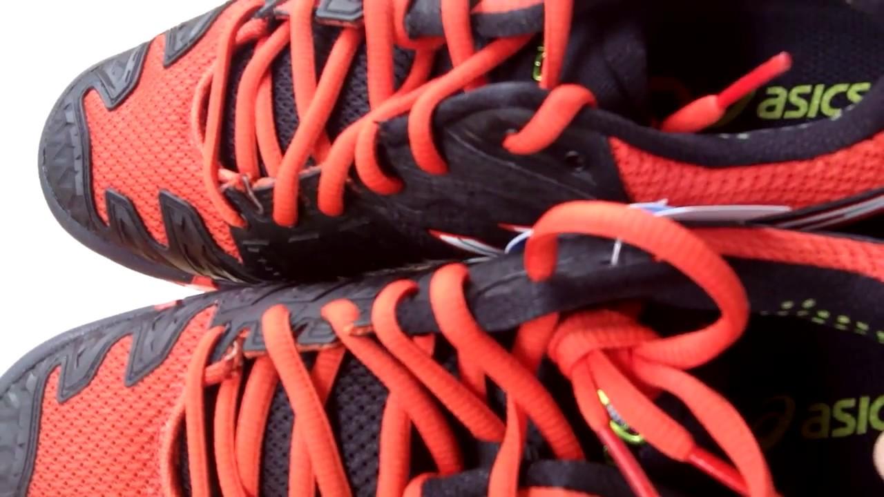Sepatu Tenis Asics Gel Resolution 6 Black White Orange E500Y 9001 Original db4167a786