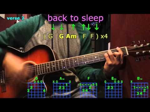 Back to sleep chris brown guitar chords