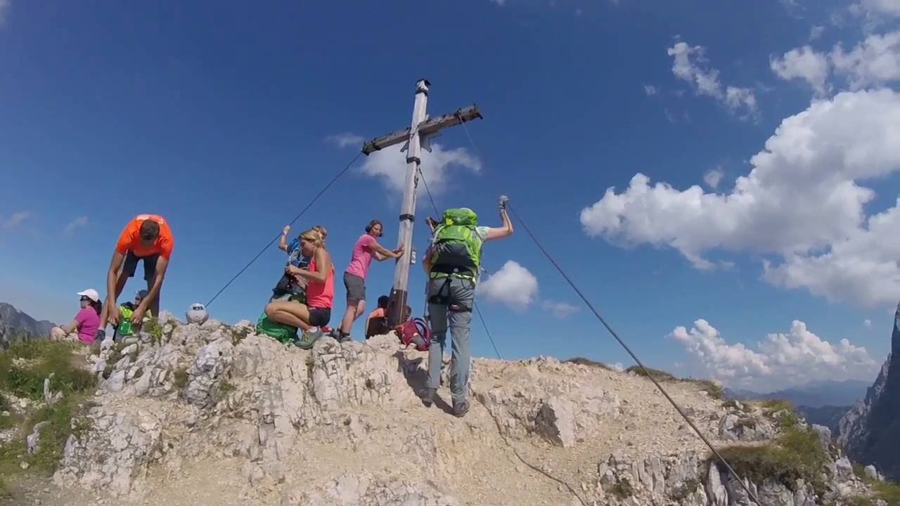 Friedberger Klettersteig : Rote flüh friedberger klettersteig by chromo youtube